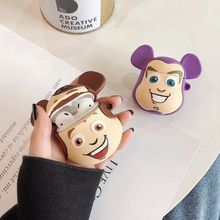 Good Quality New Cute Cartoon Pattern Case Skin Soft Silicone Protective Cover Shockproof Shell for Airpods 1/2 Charging Box