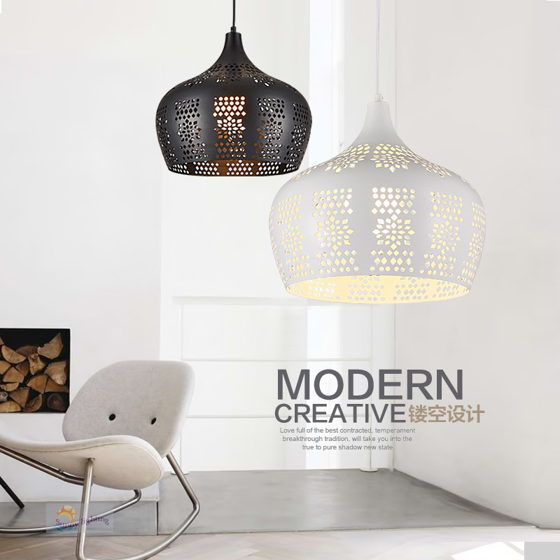 Modern LED Lighting Hanging Lamp Iron Meal Pendant Light black/White Dining Room Lamps, pendant light lamp E27 Vintage Lamp black white creative pendant light ac220v 110v e27 metal modern led lamp pendant light lamp dia32x24cm hanging lamps for bedroom