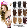 Clip In Human Hair Wavy Remy Indian Clips In Human Hair Extensions Human Hair Clip On Extensions The Real Natural Hair Clip