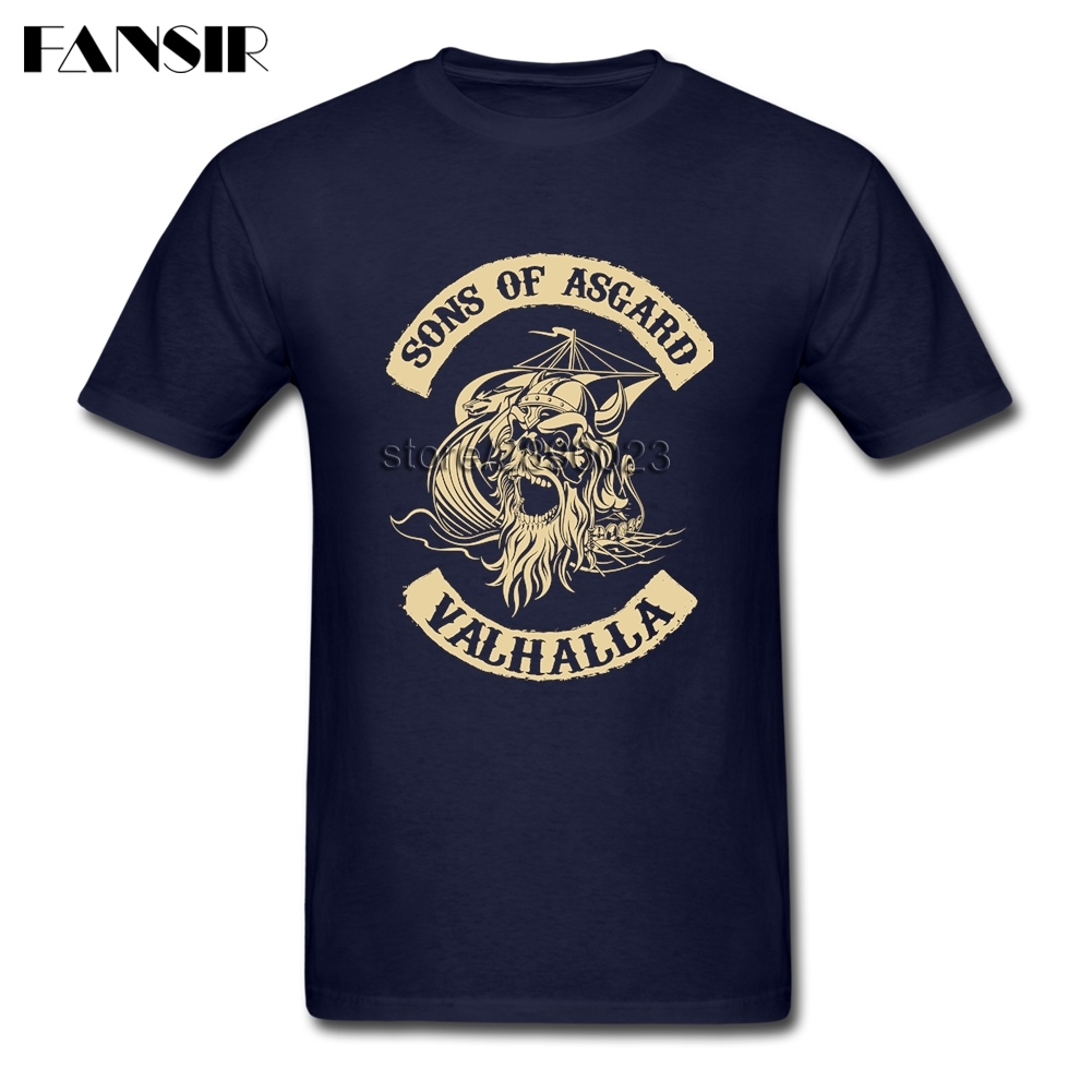 Sons Of Asgard Viking Valhalla T Shirts Men Fashion Shirt Custom Cotton Short Sleeve Clothes For Family