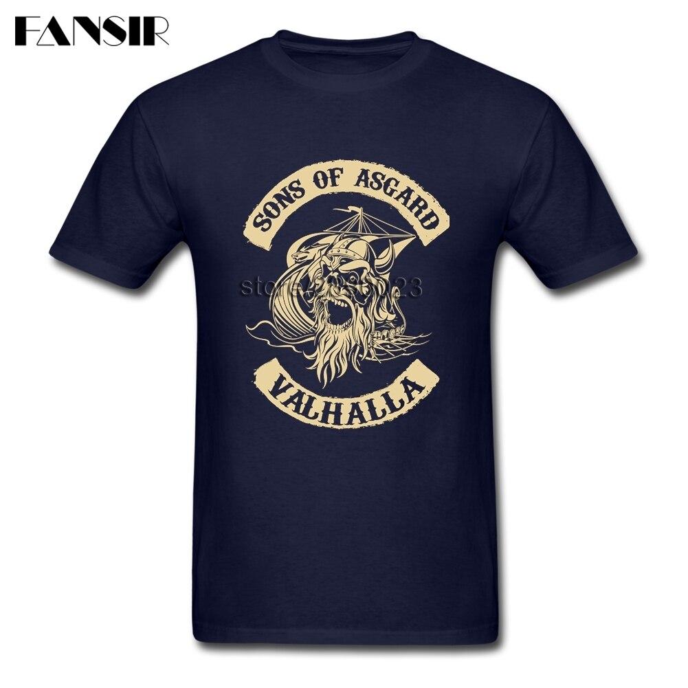 Sons Of Asgard Viking Valhalla Men Tshirts Fashion Shirt Men Boy Custom Cotton Short Sleeve XS-3XL Clothes For Family