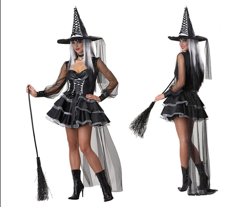 Brand New Classic Bewitched Wicked Witch Adult Halloween Costume