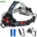 IR Sensing LED Headlamp Inductive Headlight Portable Head lamp rechargeable Head light for 18650 and AA battery Flashlight
