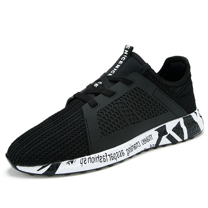Running Shoes For Men Trend Run Athletic Trainers Black Zapatillas Sports Men Shoes Outdoor Walking Sport Athletic Sneakers