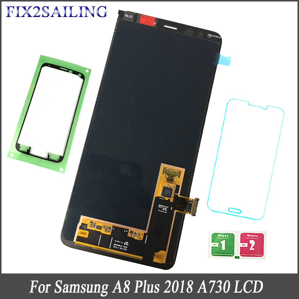 100% Tested Working AMOLED LCD Display For Samsung A8 Plus Touch Screen Assembly  For Samsung Galaxy A8 Plus 2018 A730 A730F100% Tested Working AMOLED LCD Display For Samsung A8 Plus Touch Screen Assembly  For Samsung Galaxy A8 Plus 2018 A730 A730F