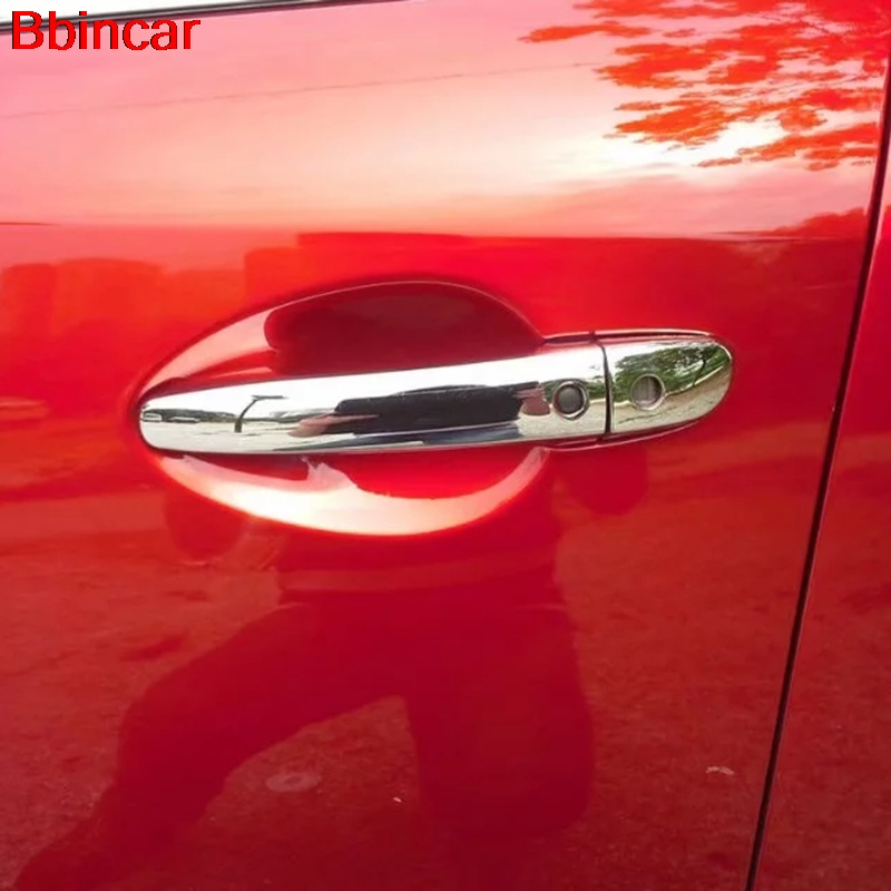 Bbincar For <font><b>Mazda</b></font> CX9 <font><b>CX</b></font>-<font><b>9</b></font> 2016 <font><b>2017</b></font> 2018 <font><b>2019</b></font> Door Handle Bowl Trims Side Doors Catch Cover Car Syling Accessories ABS Chrome image