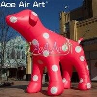 5 м длинные гигантские надувные розовый собака, надувная мультяшная модель для продажи