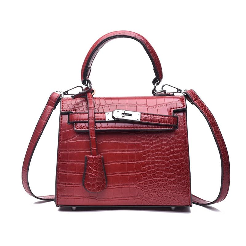 Vintage Style Designer Alligator Leather Women Bags Tote Handbag for Lady Pouch Messenger Purse Shoulder Bag Crocodile Bag стоимость