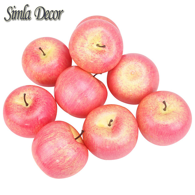 9 pcs/lot decorative apples fake fruits home house kitchen party