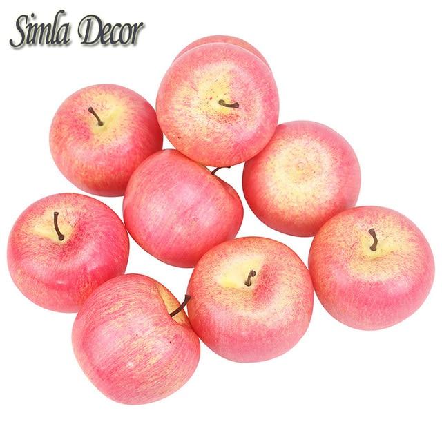 9 unids/lote decorativos manzanas frutas falsas casa cocina ...