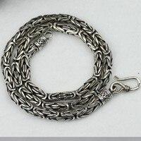 6 ملليمتر longevity اليدوية خمر 990 الفضة قلادة الحظ قلادة الفضة النقية قلادة