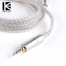 KBEAR 16 Core Verbesserte Silber Überzogene Ausgeglichen Kabel 2.5/3.5/4,4 MM Mit MMCX/2pin/QDC stecker Für BLON BL-01 BL-03 KBEAR KS2
