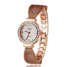Rhinestone de lujo de Pulsera Reloj de Pulsera de Mujeres Relojes de Oro Rosa de Las Mujeres Relojes Señoras Reloj Reloj reloj mujer relogio feminino