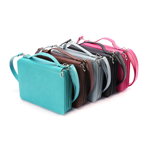 Image 4 - 184 Slot Portable Colored Pencil Case Holder Waterproof Large Capacity PU Leather Pencil Bag For Student Gifts Art Supplies