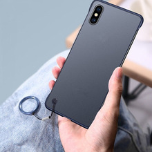 Luxury Slim Frameless Ring Phone Holder Hard PC Case Cover for iPhone 6 6s 7 8 Plus X XR Xs Max For Apple