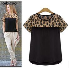 2018 Leopard Print Chiffon Blouse Women Blouses Tops Blusas Femininas Female Shirt Ladies