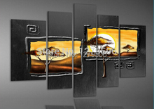 100% Handmade High Quality Wall Art Home Decoration Picture Oil Painting On Canvas 5 Piece/set