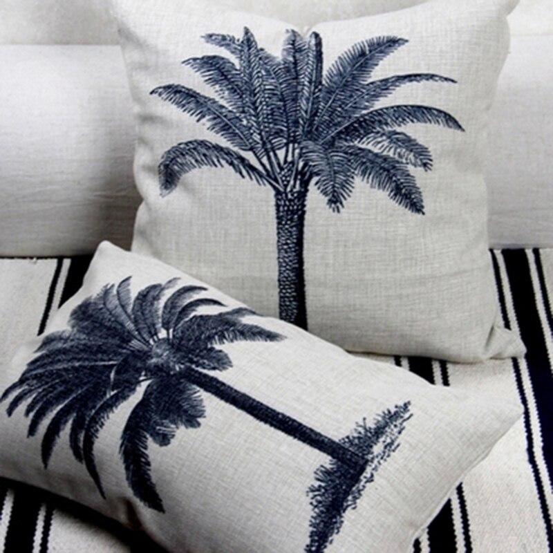 Nordic Style Green Plant Pattern Pillowcase Sofa Chair Cushion Waist Throw Pillow Home Decoration Hemorrhoid Seat Cushion in Cushion from Home Garden