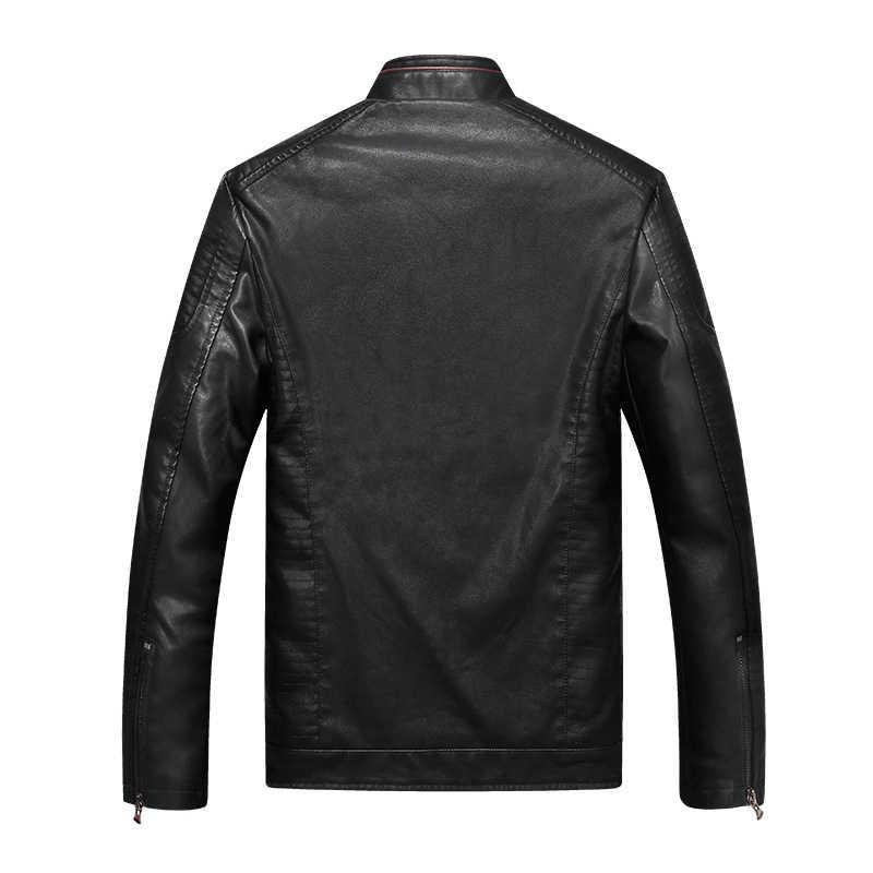 DIMUSI мужская куртка из искусственной кожи, кожаные пальто, весенние мужские s Slim Fit, Мотоциклетные Куртки из искусственной кожи, мужские кожаные пальто, одежда 5XL, YA781