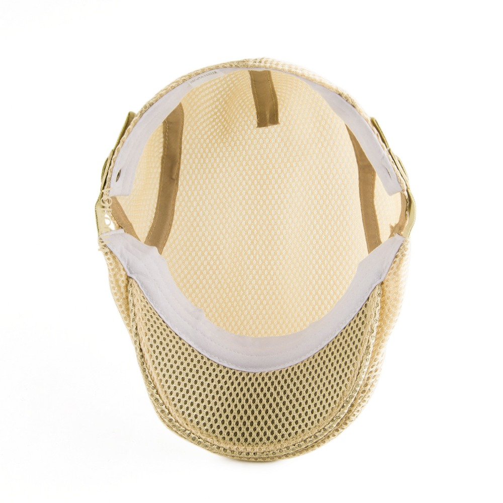 82d0cb5ed35 Summer Men Women Khaki Casual Beret Hat Ivy Flat Cap Cabbie Newsboy Style  Gatsby Hat Adjustable Breathable Boina Mesh Caps 124-in Newsboy Caps from  Apparel ...