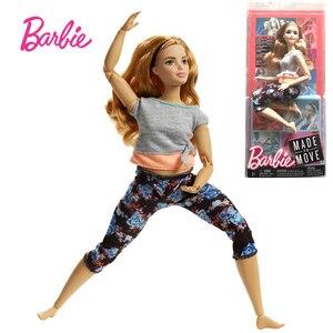 Image 4 - 7 stil Original Barbie Mode Trends Blume Hosen Yoga Puppe Alle Gemeinsamen Bewegung Gymnastik Tänzerin Maß Zu Bewegen Barbie Puppe spielzeug