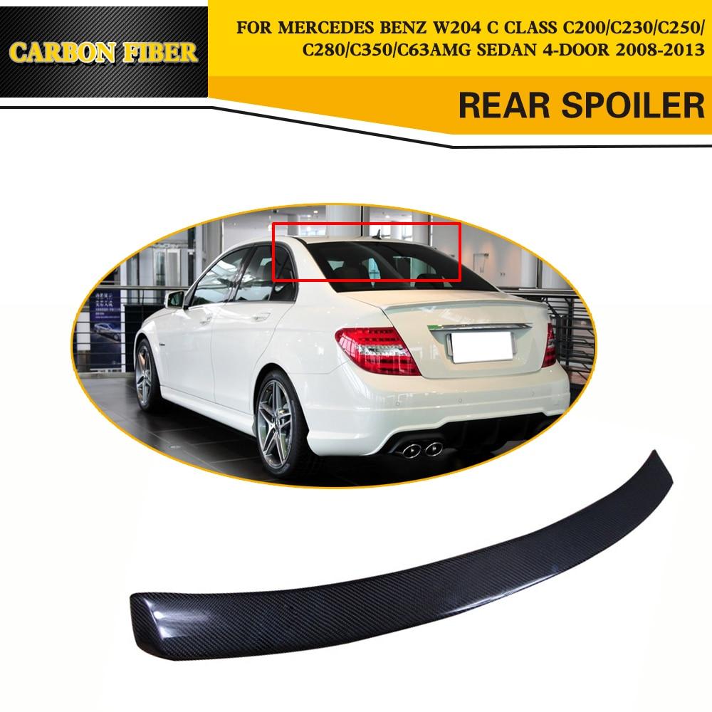 Carbon Fiber Auto Hinten Dach Spoiler Flügel Auto Styling für Mercedes Benz C Klasse W204 Limousine 4 Tür 2008 2013|rear roof spoiler|spoiler wingroof spoiler -