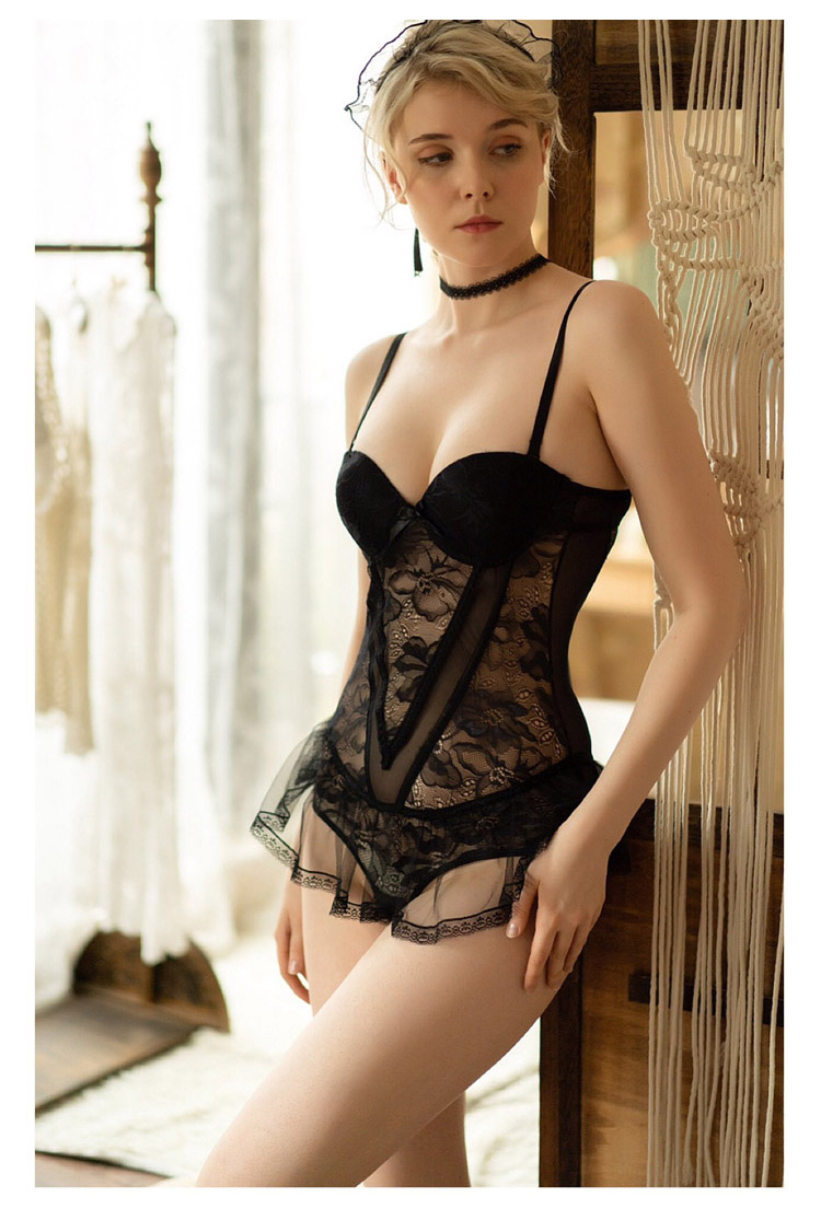 Sizzle Intimates Sexy Lace Corset Lingerie