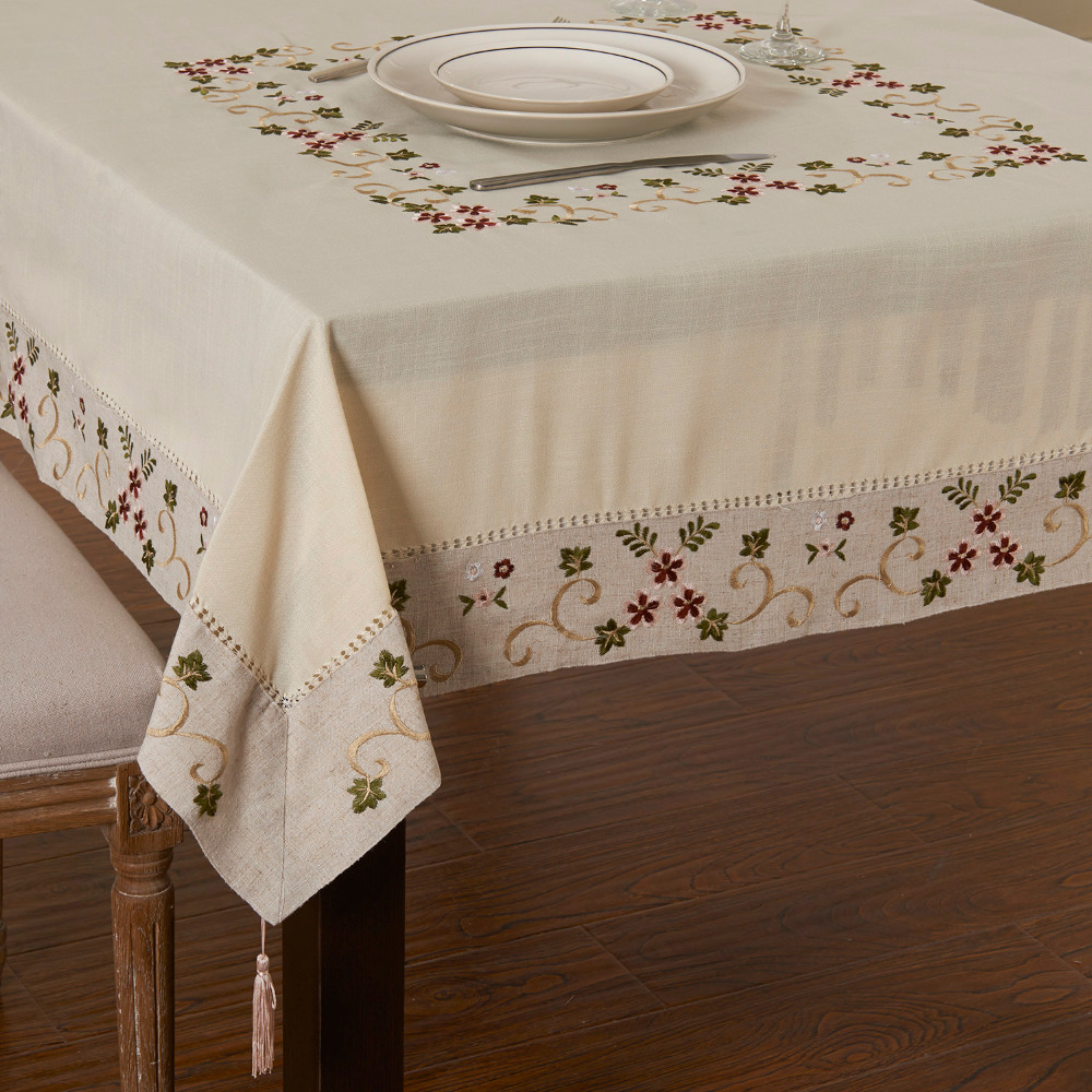 Pastoralism Embroidery Table cloth 85CM/110cm/130cm Square Table cover ...