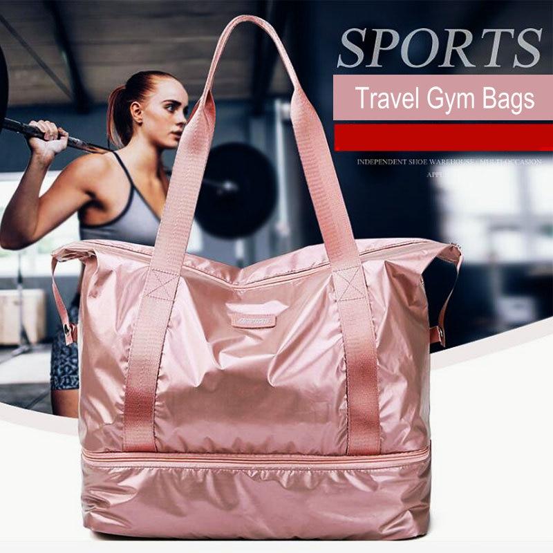 Oxford Travel Sport Bag For Women Fitness Designer Sport Multifunction Shoulder Tote Gym Bags For Shoe Storage Yoga Fitness Bag