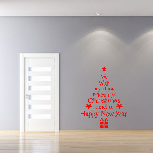 2018 new Fashion Christmas Tree Wall Sticker Vinyl Removable Wall Stickers Home Wall Decor Poster