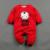 Galinha engraçada Ano Do Bebê Das Meninas Dos Meninos Roupas Traje de Manga Comprida Grosso Macacões de Bebê Romper Infantil Macacão ternos do Ano Novo Chinês