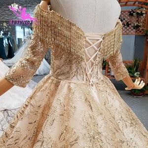 Image 5 - Aijingyu 구매 웨딩 드레스 두바이 가운 핫 온라인 파티 의류 수입 가운 중국 웨딩 드레스