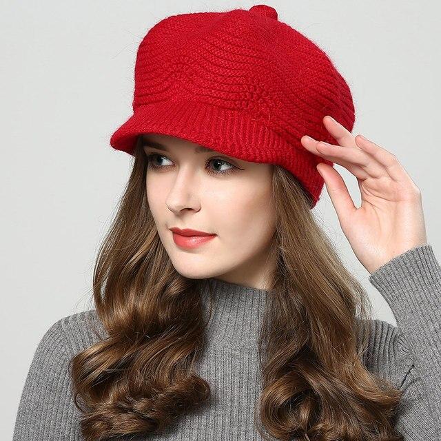 bd107c2d00d8b3 ... JIYOUOU winter hats for women Skullies Beanies hand made hats 2018 New women's  hat knitted cap ...