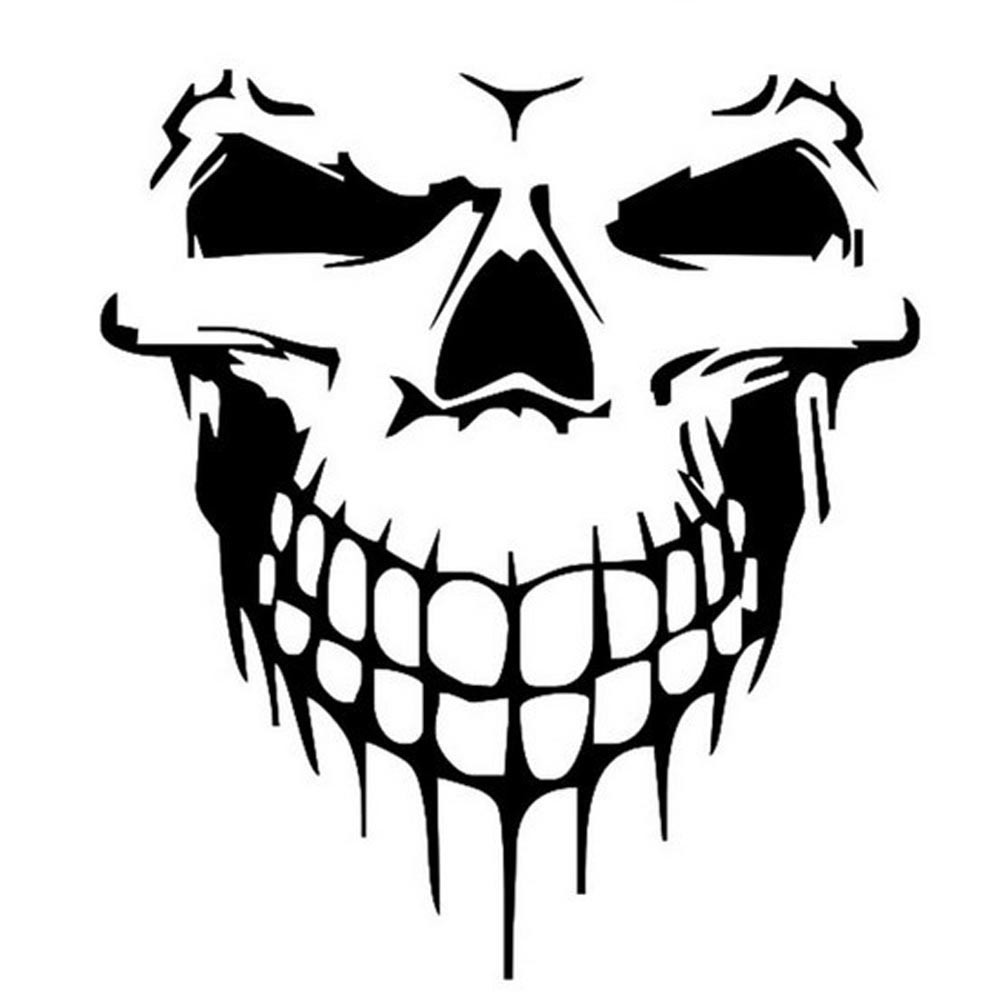 Car Stickers Skull Head Reflective Vinyl Car Styling Car-covers Accessories Funny Decoration Exterior Accessories