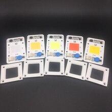 5PCS 50W 110V 220V COB High Power led chip built-in driver white LED, Full Spectrum LED Royal blue Warm