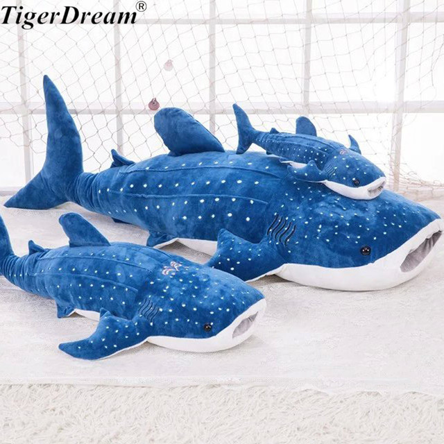 One Piece Soft Pp Cotton Stuffed Whale Shark Plush Toys High Quality