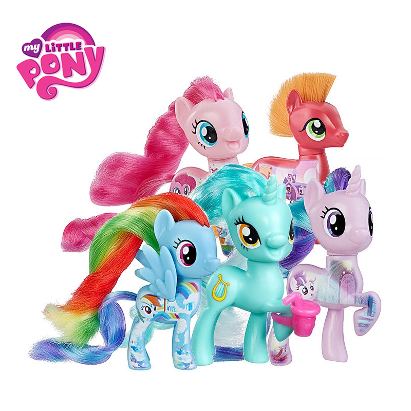 hasbro my little pony toys friendship is magic pop pinkie pie rainbow series pony pvc action figures colletion model dolls a2004 Hasbro My Little Pony Toys Friendship is Magic Rainbow Dash Pinkie Pie Lyra Heartstring PVC Action Figure Collectible Model Doll