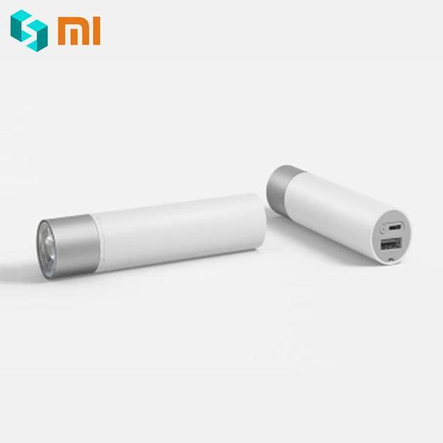 Xiaomi 휴대용 손전등 11 회전식 램프 헤드가있는 조정 가능한 lumin모드 3350 mah 리튬 배터리 usb 충전 포트