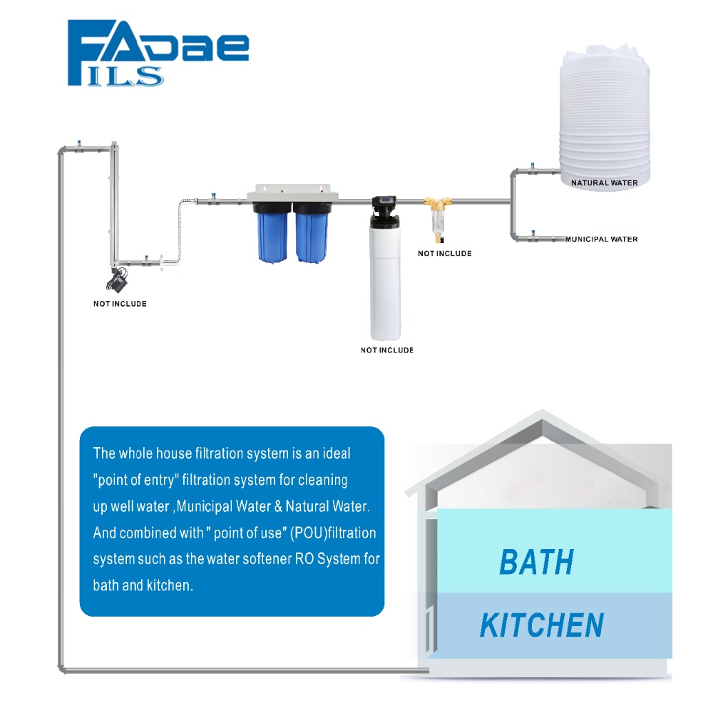 US $159 0 |2 Stage Whole House Water Filtration System With 4 1/2