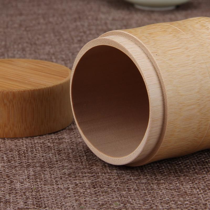Bamboe opslag flessen Keuken thee Container Jar blikjes Case - Home opslag en organisatie - Foto 3