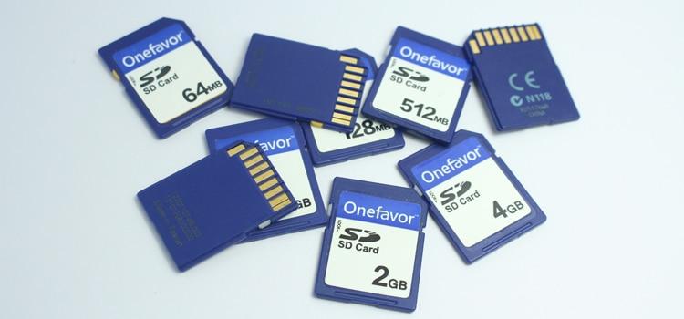 Купить с кэшбэком onefavor 16MB 32MB 64MB 128MB 256MB 512 MB 1GB 2GB SD Secure Digital Flash Memory Card