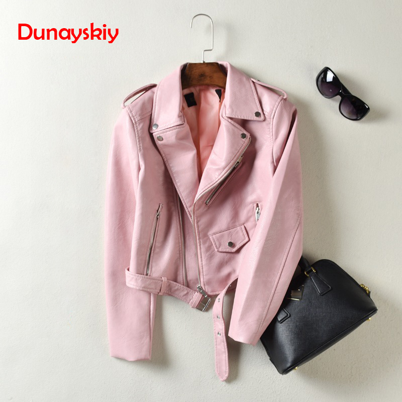 Dunayskiy Women Autumn Winter Clothes Leather Jackets Soft Pu Faux Leather Coat Slim Short Design Streetwear Plus Size Outerwear 2