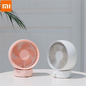 Image 2 - XIAOMI 3Life Mini Air Circulation Fan180 Degrees of Rotation330 Powerful Wind Power USB Power Low Noise High Wind White and Pink