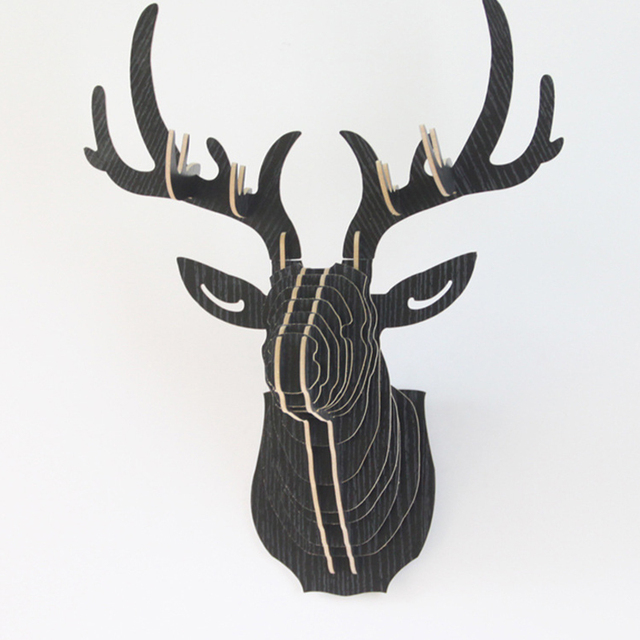 Strange Us 12 23 Wall Sticker Diy 3D Sticker Wooden Deer Head For Living Room Decorative Wall Figurines For Christmas New Year Decorations In Wall Stickers Download Free Architecture Designs Scobabritishbridgeorg