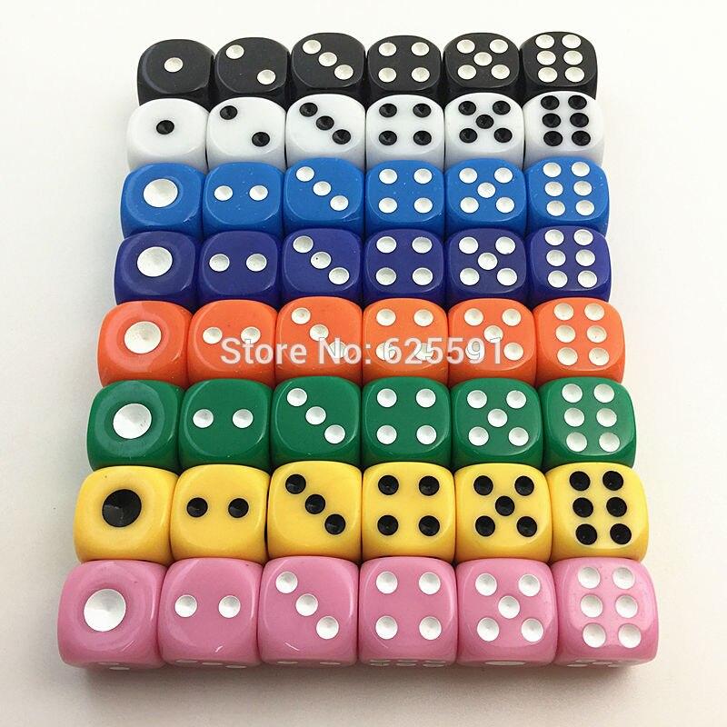F F14 14 14mm 6 Colores Casino D6 Dados Con Puntos Estandar Beber