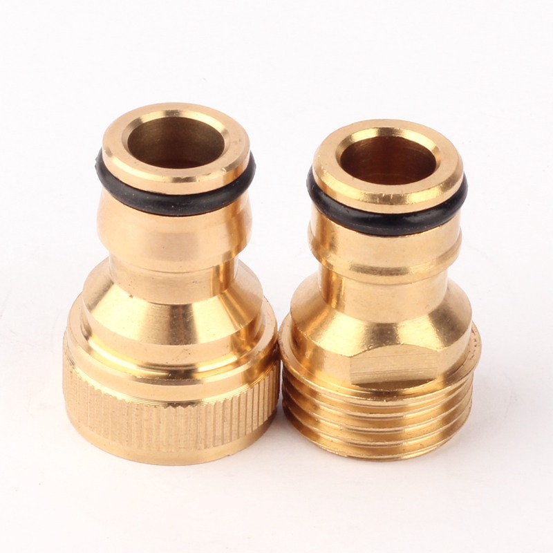 2-Type G 1/2'' Female Male Pure Copper Nipper Quick Connectors Hi-Quality Garden Irrigation Thread Connector Parts Metal Joint