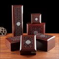 HIgh Quality Red Painted wooden Ring Box Pendant Holder Necklace Packaging Case Jewelry Box Bracelet Storage