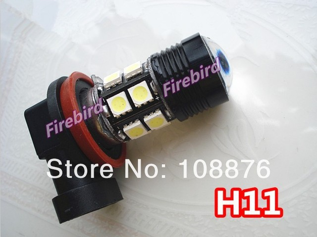 2 x H11 7W power cold white led fog lamps, fog lights, daytime running lights for DC12V car,  free shipping