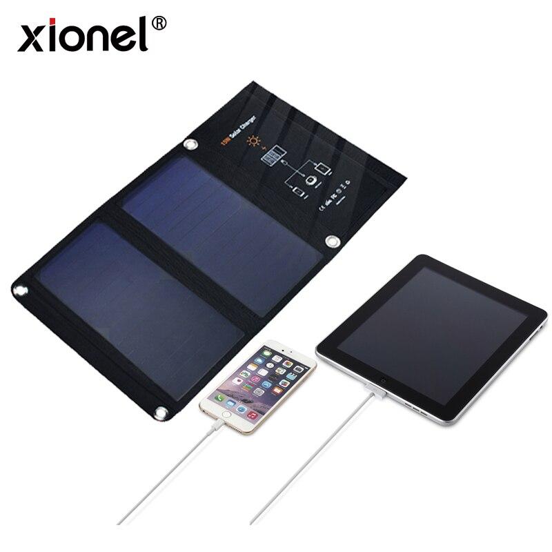 Chargeur solaire de panneau solaire de cellule solaire de Xionel Sunpower avec le double Port d'usb pour Apple, iPhone, Android, Samsung, HTC, LG, Nexus