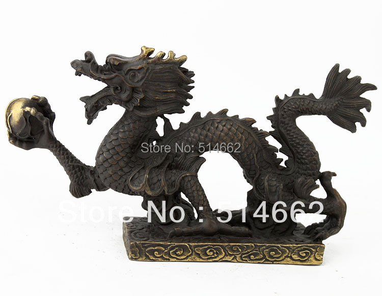 STATUES de Dragon en laiton FengShui/ANIMAL-DRAGON M4070